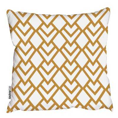 Cotton Geometric Pillow - Wayfair
