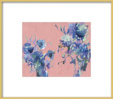 Purple Bouquet on Pink by Sonal Nathwani for Artfully Walls - Artfully Walls