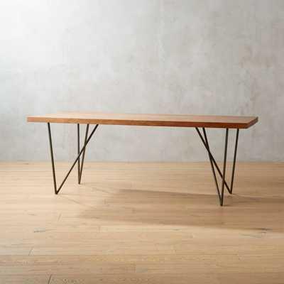 """DYLAN 36""""X80"""" MEDIUM ACACIA DINING TABLE - CB2"""