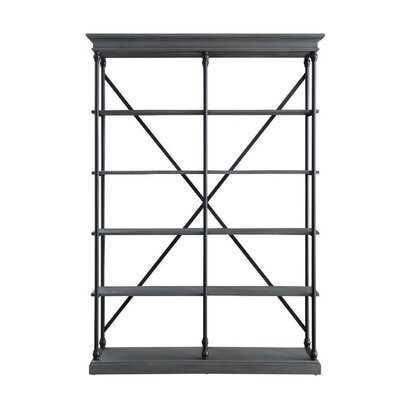 "Cutright 84"" H x 58"" W Metal Etagere Bookcase - Wayfair"