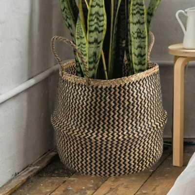 Large Belly Straw Seagrass Basket - Wayfair