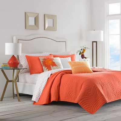 Trina Turk Palm Desert Orange 2-Piece Cotton Quilt/Sham Set, Twin - Home Depot