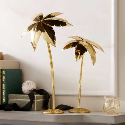 Palm Trees Gold Set of 2 - CB2