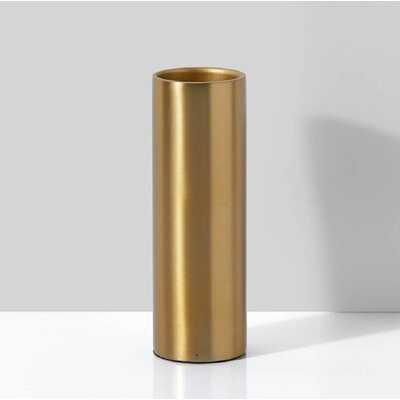 Pilning Gold Indoor / Outdoor Metal Table Vase - Wayfair