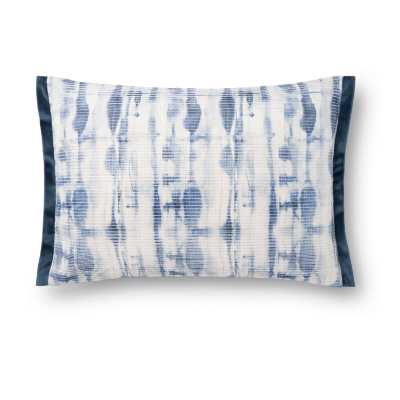 Abstract Lumbar Pillow Fill Material: Polyester/Polyfill, Color: Blue - Perigold
