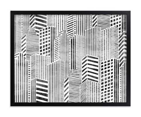 Linear City Art Print - Minted