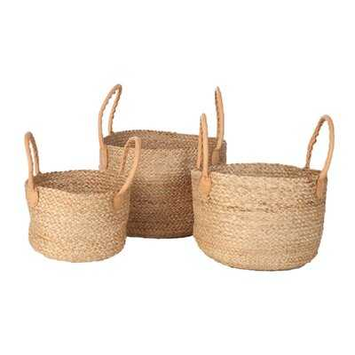 3 Piece Jute Basket Set - Wayfair