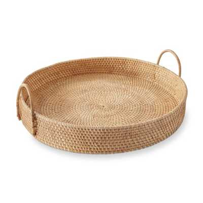 Light Woven Tray with Handles - Williams Sonoma