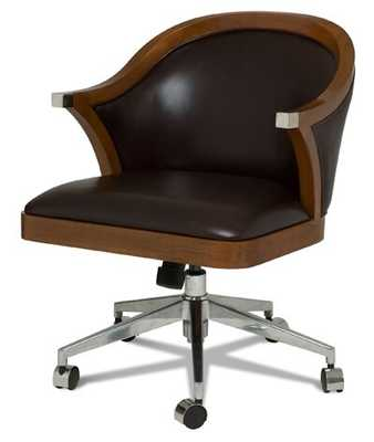 Scarborough House Geniune Leather Task Chair Color: Romeo Brown - Perigold