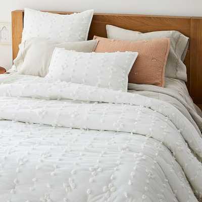 Candlewick Comforter, Full/Queen & Standard Shams, White - West Elm