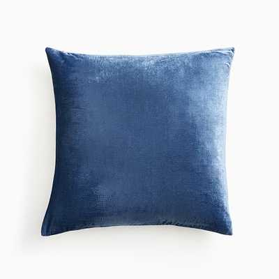 "Lush Velvet Pillow Cover, 20""x20"", French Blue - West Elm"