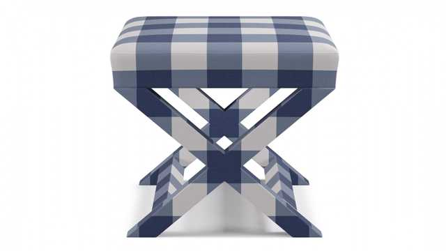 X bench | French Blue Check - The Inside