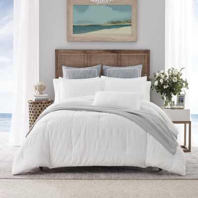 Nautica Hampton White 3-Piece Cotton Blend Comforter set, King - Home Depot
