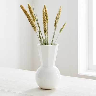 Porcelain Urn Vase, Small, White - West Elm