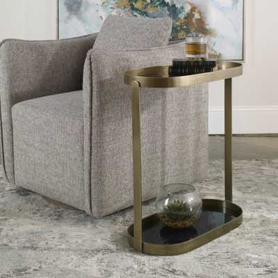Adia Antique Gold Side Table - Hudsonhill Foundry