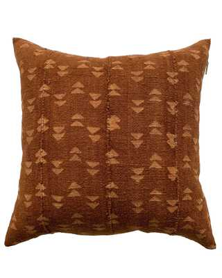 double triangle mud cloth pillow in rust - cover only - PillowPia