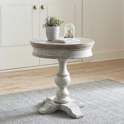Goshen Pedestal End Table - Wayfair
