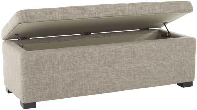 Madison Storage Bench Large - Stone/Black - Arlo Home - Arlo Home