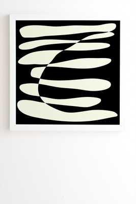 "Black & White Abstract Composition Framed Artwork, 20"" x 20"" - Haldin"