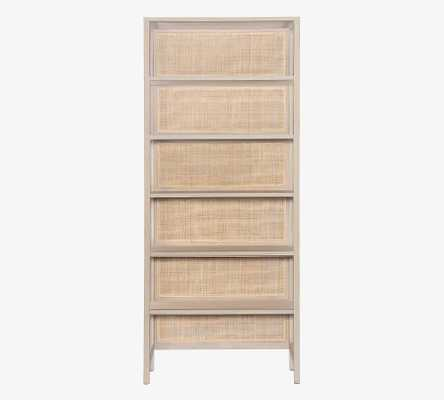 """Dolores 38"""" X 90"""" Cane Bookcase, Natural - Pottery Barn"""