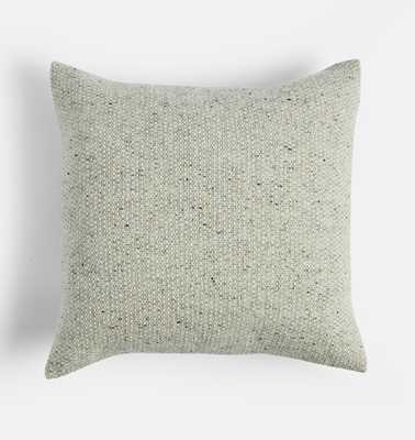 Silver Gray Irish Wool Tweed Pillow Cover - Rejuvenation