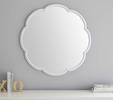 Scallop Mirror, White - Pottery Barn Kids