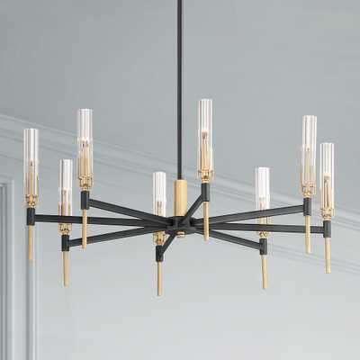 "Maxim Flambeau 33""W Black and Brass 8-Light LED Chandelier - Style # 82J01 - Lamps Plus"