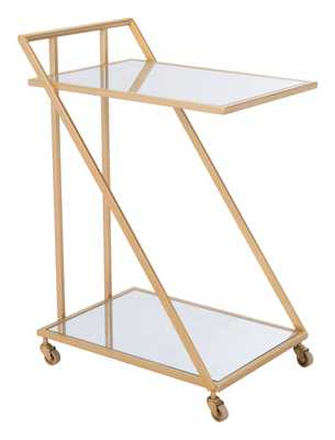 Alto Bar Cart Mirror & Gold - Zuri Studios