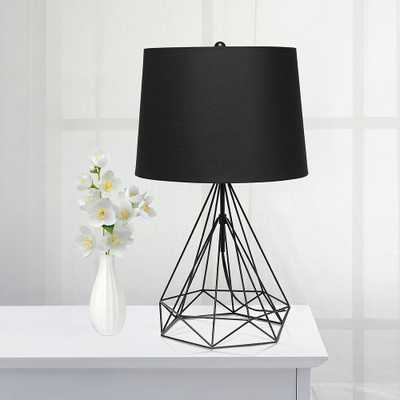 Lalia Home Matte Black Geometric Wired Accent Table Lamp - Style # 89D79 - Lamps Plus
