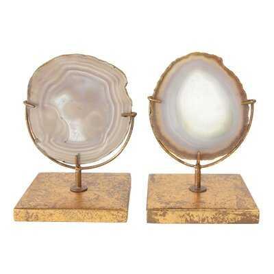 Navasota Natural Decorative Agate Décor On Stand - AllModern