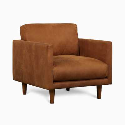 Rylan Chair Tan Outback Leather Almond - West Elm