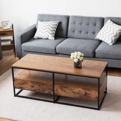 Baisden Frame Coffee Table with Storage - Wayfair
