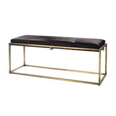 Lichtenstein Genuine Leather Bench - Wayfair