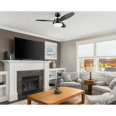 """42"""" Corsa 3 Blade Standard Ceiling Fan with Remote Control and Light Kit Included - AllModern"""