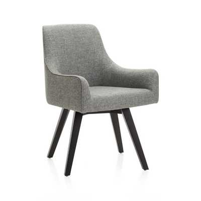 Harvey Black Swivel Armchair - Purchase now and we'll ship when it's available.  Estimated in early December. - Crate and Barrel