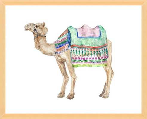Decorated Indian Camel Watercolor by Lauren Rogoff for Artfully Walls - Artfully Walls