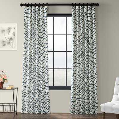 Decker Leite Printed Cotton Twill Abstract Room Darkening Rod Pocket Single Curtain Panel - AllModern