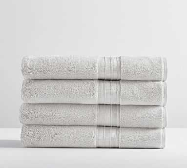 Hydrocotton Organic Bath Towels, Set of 4, Gray Mist - Pottery Barn
