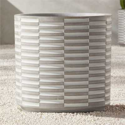 Rae Grey Planter Large - CB2