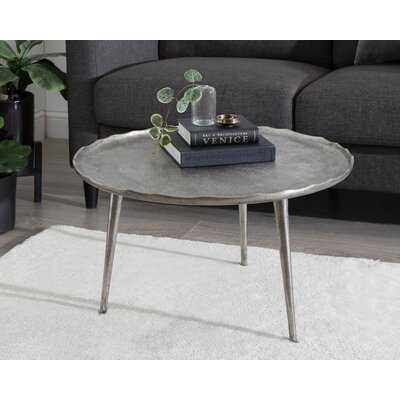 Everly Quinn Alessia Round Coffee Table 25X25x15 Gold - Wayfair