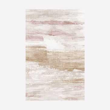 Reflection Rug, Misty Rose, 5'x8' - West Elm