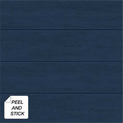NextWall Coastal Blue Shiplap Peel and Stick Wallpaper 30.75 sq. ft. - Home Depot