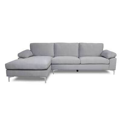 "103.5"" Wide Velvet Left Hand Facing Sofa & Chaise - Wayfair"