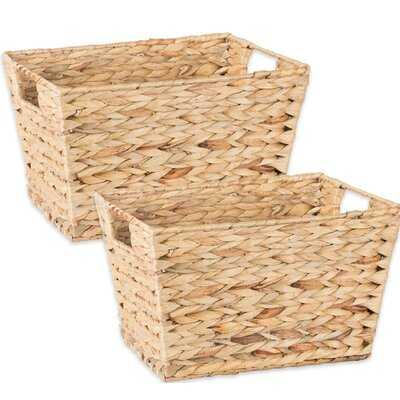 Wicker Basket (set of 2) - Wayfair