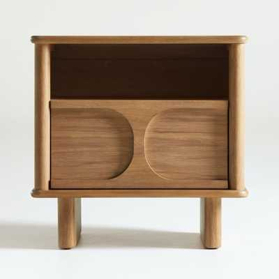 Wes Wood Nightstand with Drawer - Crate and Barrel