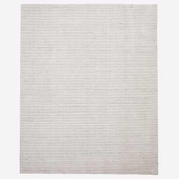 Terra Stripes Rug, 9'x12, Natural Flax - West Elm