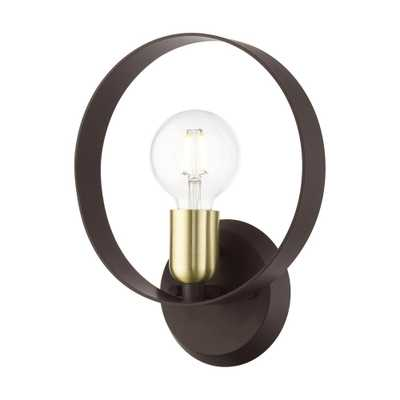 LIVEX LIGHTING Modesto 9 in. Bronze Sconce - Home Depot