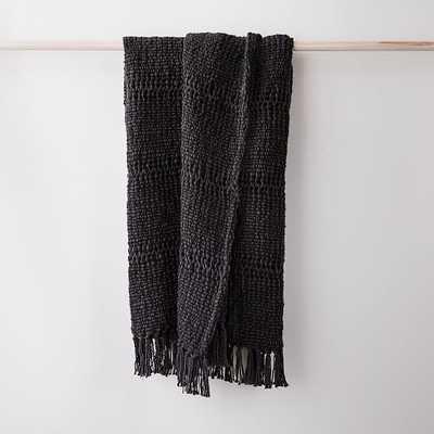 "Cozy Weave Throw, 50""x60"", Slate-individual - West Elm"