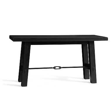 Benchwright Counter Height Table, Blackened Oak - Pottery Barn
