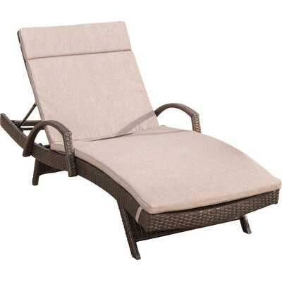Rebello Reclining Chaise Lounge with Cushion - AllModern